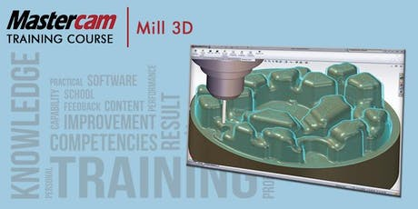 Mastercam Mill Part 2 - 3D Machining (KVCC - 4 Days) tickets
