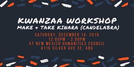 Kwanzaa Workshop: Make & Take Kinara (Candelabra)