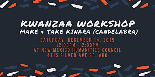 Kwanzaa Workshop: Make & Take Kinara (Candelabra)