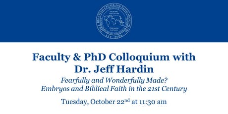 Faculty & PhD Colloquium with Dr. Jeff Hardin tickets