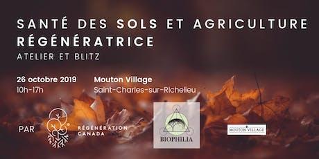 Santé des sols et agriculture régénératrice: atelier et blitz! billets