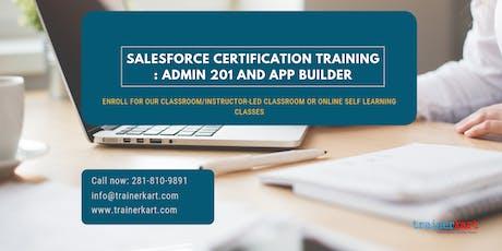 Salesforce Admin 201 & App Builder Certification Training in  West Nipissing, ON tickets