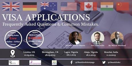Visa Applications tickets