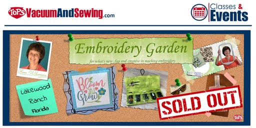 Embroidery Garden Event Taught by Reen Wilcoxson | Lakewood Ranch, Florida