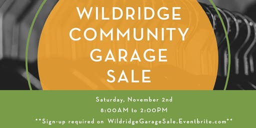 Wildridge Community Garage Sale