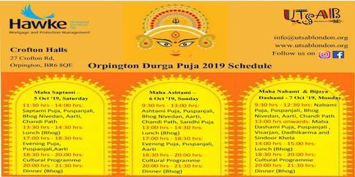 Durga Puja in Orpington/Bromley/London/Dartford