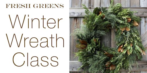 DIY Winter Wreath Work Shop