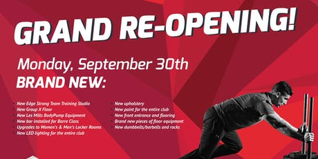 Grand Re-Opening tickets