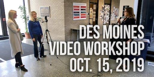 Des Moines Video Workshop - Chris Snider, Drake University