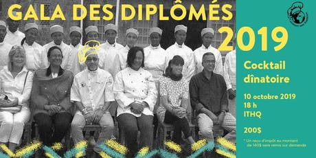 Gala des diplômés 2019 au profit de Cuisiniers sans frontières billets