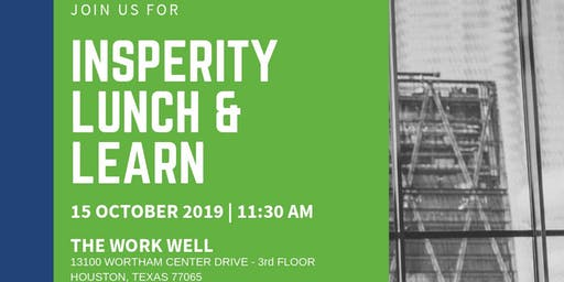 Insperity Lunch and Learn - October 15th at 11:30am