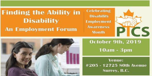 """""""Finding the Ability in Disability"""" - An Employment Forum"""
