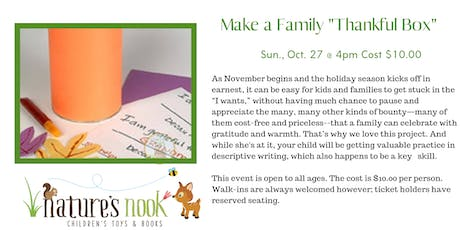 Make a Family Thankful Box tickets