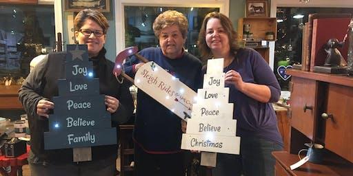 Holiday Wood Sign Workshop