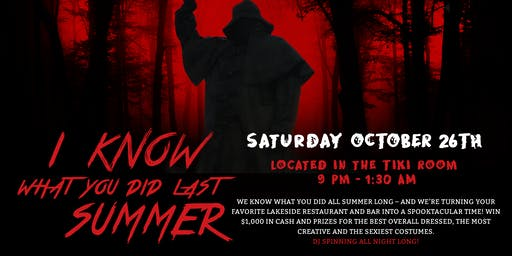 """""""I Know What you Did this Summer"""" Halloween Party at Papa Doc's"""
