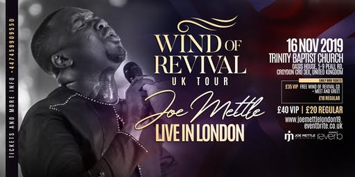 Joe Mettle 'Wind of Revival' London Concert 2019