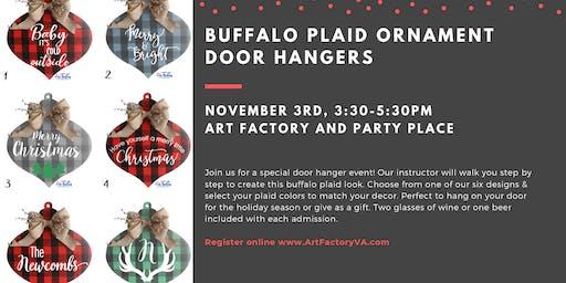 Buffalo Plaid Ornament Door Hangers