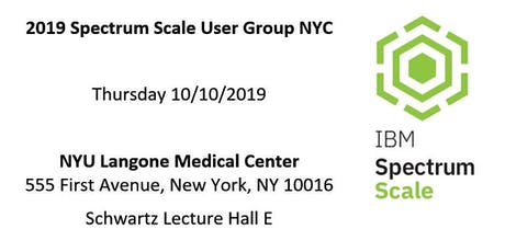 2019 Spectrum Scale User Group NYC tickets