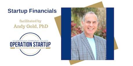 Startup Financials tickets
