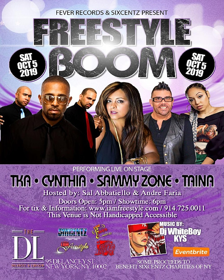 Freestyle Boom With TKA- Cynthia -  Sammy Zone - Taina image