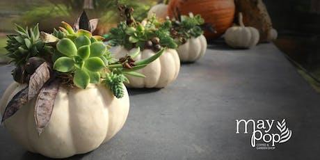 Craft Lab: Succulent Pumpkins Table Runner tickets