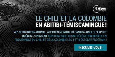 Le Chili et la Colombie en Abitibi-Témiscamingue : 5@7 cocktail réseautage billets