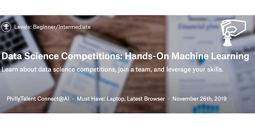 Data Competitions: Hands On Machine Learning November Cohort