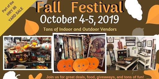 Fall Festival/Hwy 60 Yard Sale