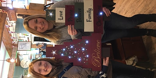 Pallet Christmas Tree Sign Workshop