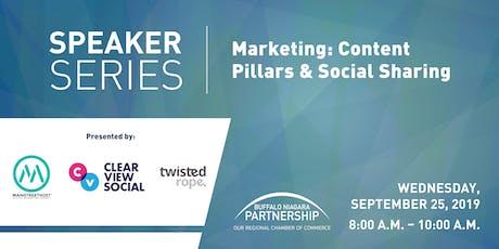 2019 Speaker Series: Marketing-Content Pillars & Social Sharing  tickets