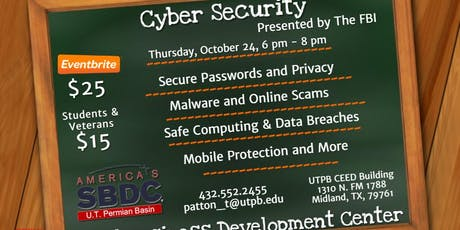 Cyber Security presented by the FBI tickets