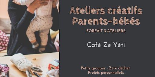 Ateliers créatifs parents-bébés - Forfait 3 ateliers au café Ze Yeti