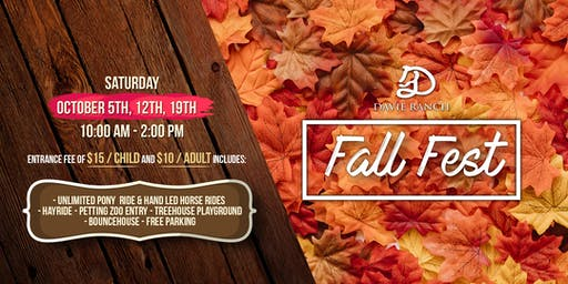 Fall Fest October 19th at Davie Ranch