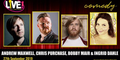 Stand-up Comedy Live! -  Friday 27th September 2019 tickets
