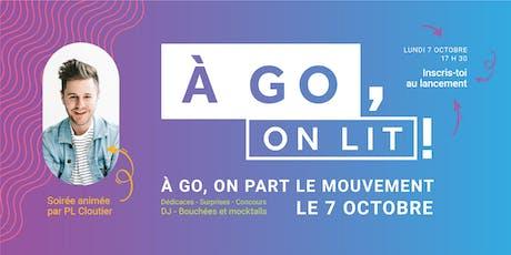 Lancement À GO, on lit! billets