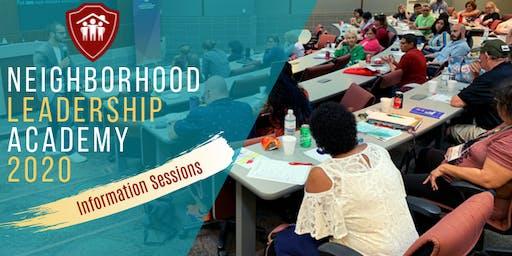 2020 Neighborhood Leadership Academy - Recruitment Information Sessions