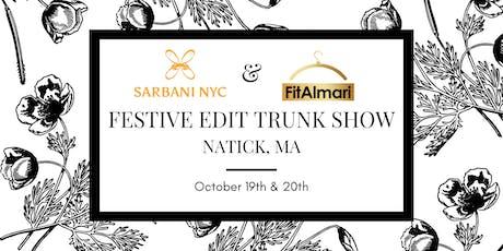 Festive Edit Trunk Show by Sarbani NYC & FitAlmari - Natick, MA tickets