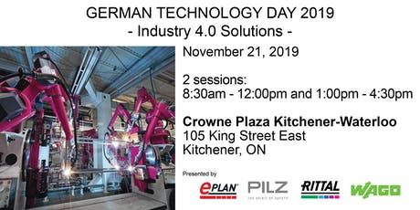 German Technology Day 2019 - Industry 4.0 Solutions tickets