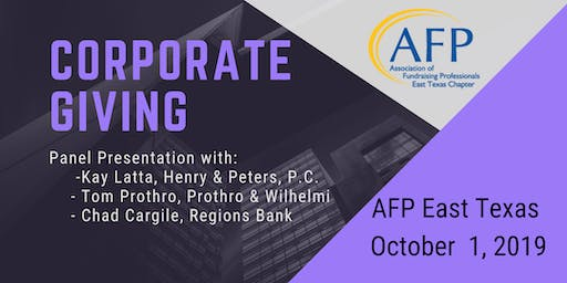October AFP Program - Corporate Giving