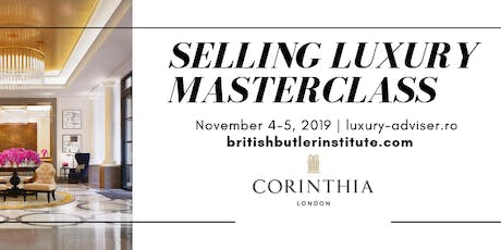 Selling Luxury Masterclass tickets
