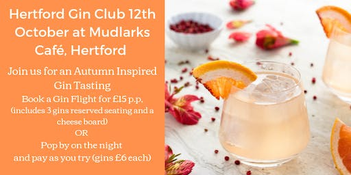 The Hertford Gin Club, Join us for a Autumn Inspired Gin Tasting