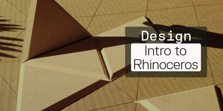 Intermediate 3D Modeling: Intro to Rhinoceros tickets