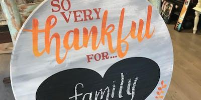 Thankful Board Art