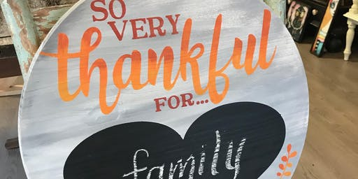 Thankful Board Art