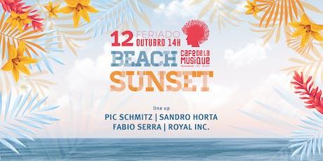 Beach Sunset  12/10 - Café de La Musique Floripa ingressos