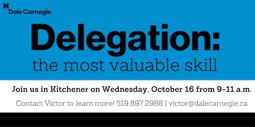 Leadership Strategies Workshop: Delegation - Kitchener
