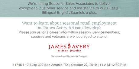 James Avery Military Spouse Retail Hiring Information Session tickets