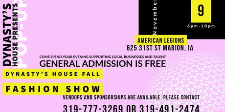 Pop up shop and Fashion Show tickets