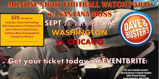 DB Capitol Hgts: MONDAY NIGHT FOOTBALL WATCH PARTY Live w/Santana Moss