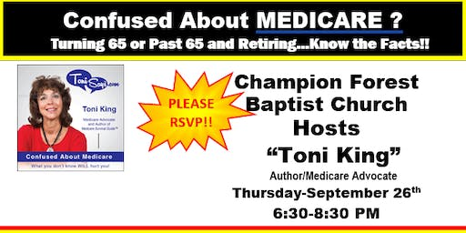 Confused About Medicare Workshop-Champion Forest-RESCHEDULED